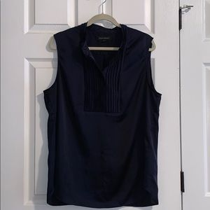 Navy Blue Short Sleeve Banana Republic Blouse